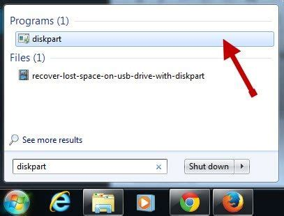 diskpart format command missing how to recover missing or unallocated space on usb drive