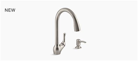 kohler barossa kitchen faucet barossa 174 touchless pull kitchen faucet with soap