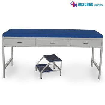 Meja Periksa Laci Besi meja praktek dokter pakai laci examination table bed with drawer footstep toko medis jual
