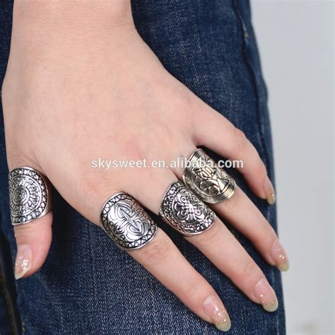 fashion statement silver rings fancy vintage cheap rings