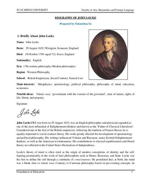 biography slideshare biography of john locke