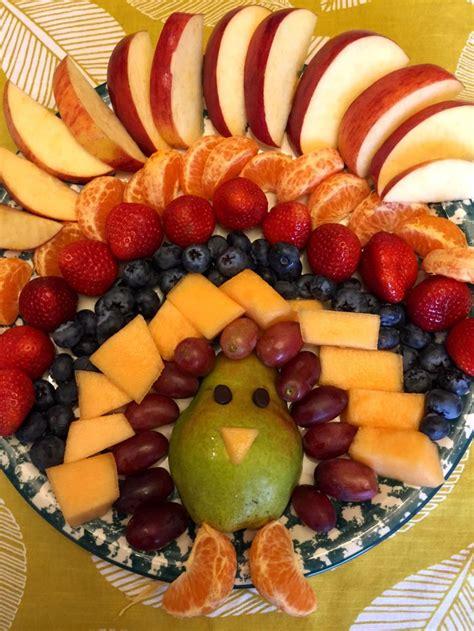 fruit appetizers thanksgiving turkey shaped fruit platter appetizer recipe