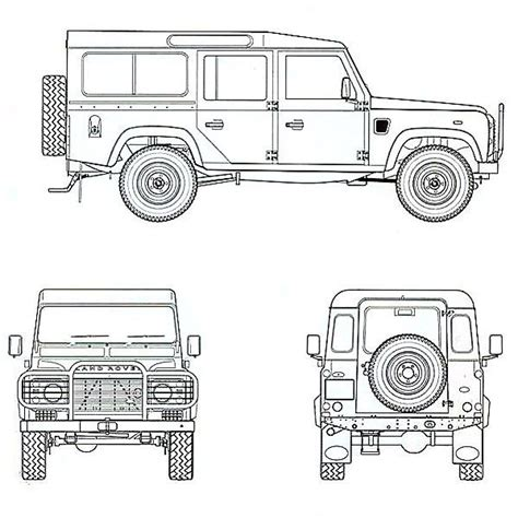 Land Rover Technical Drawings defender 110 technical drawing landrover