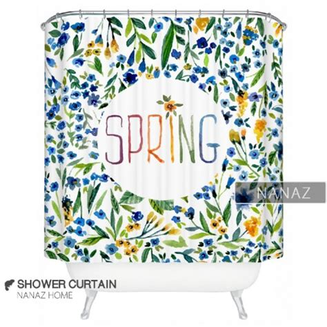 spring shower curtains spring shower curtain