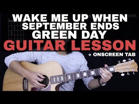 tutorial guitar wake me up wake me up when september ends guitar chords how to play