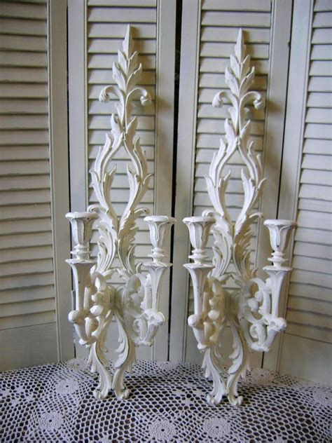 Candle Wall Sconces For Dining Room by Pair Of Ornate Candle Wall Sconce By