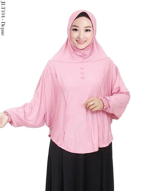 jual jilbab tangan langsung ukuran jumbo bahan jersey motif polos jlt104 syafna fashion