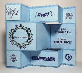 busy with the cricky tri fold birthday card