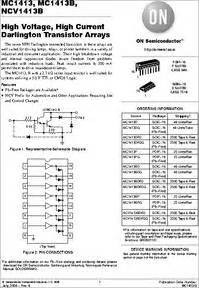 high current darlington transistor datasheet mc1413bdg datasheet high voltage high current darlington transistor arrays