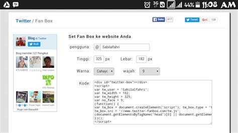 membuat follow twitter di blog blog sabilal fahri