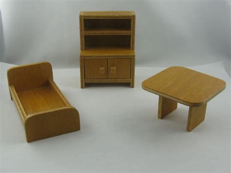 furniture 60s dollhouse furniture from the 60s 70s from wood bed table