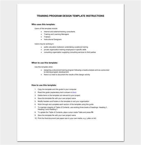 Mba Human Resource Management Course Outline by Program Outline Template 19 For Word Pdf