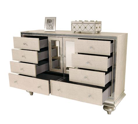 hollywood swank bedroom set hollywood swank cream pearl platform bed by aico aico