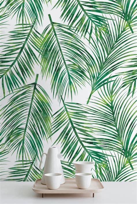 wallpaper green leaf pattern palm leaves self adhesive wallpaper tropical wallpaper