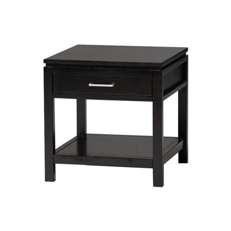 Black End Tables Sutton Black Wood End Table 84028blk 01 Kd U
