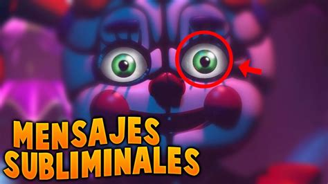 mensajes subliminales five nights at freddy s 2 mensaje oculto en five nights at freddy s sister location