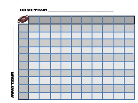 football square board template football pool squares template search results calendar