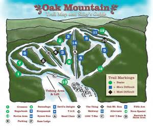 Oak Mountain State Park Map by Oak Mountain Ski Center Ski Trail Map Speculator New