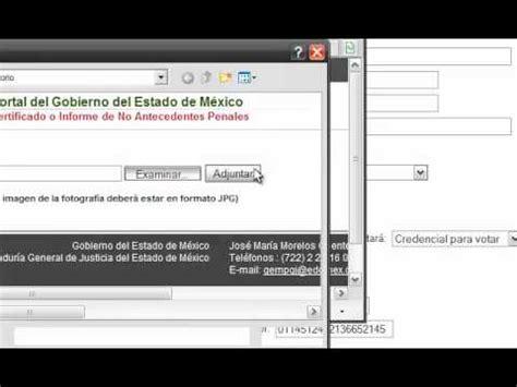 como tramitar carta no antecedentes penales youtube antecedentes no penales estado de mexico y curp youtube