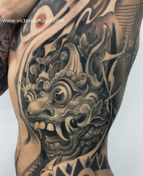 tattoo naga bali 16 fabulous balinese mask tattoos tattoodo