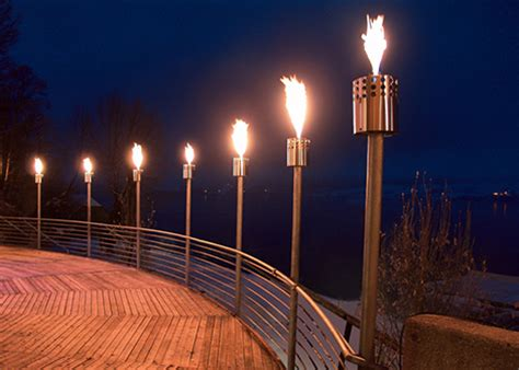 backyard torches lanterns modern outdoor gas fire collection by attika