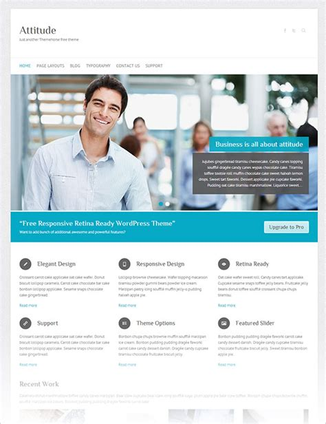 wordpress theme free company website 12 best free blog business wordpress themes for october