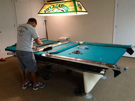 pool table leveling services on long island