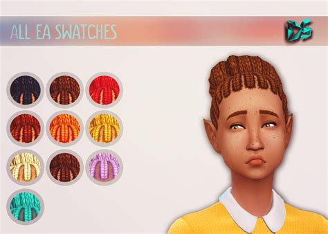 sims 4 bun braids my sims 4 blog braided bun hair for teen elder males