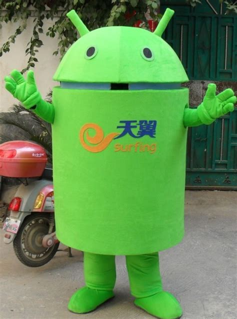 android costume 2013 sale material android robot mascot costume mascot costume