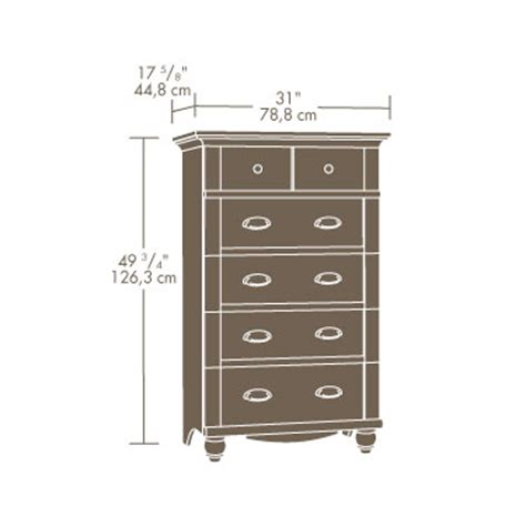 Sauder 5 Drawer Chest by Sauder 420465 Harbor View 5 Drawer Chest The Furniture Co