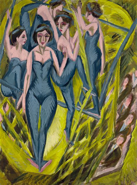 Color Painting by Penccil Ernst Ludwig Kirchner Master Of Color