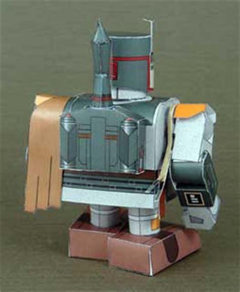 Boba Fett Papercraft - mini boba fett papercraft paperkraft net free