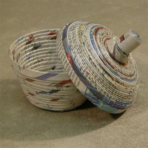 New Paper Crafts - made from recycled newspaper crafts