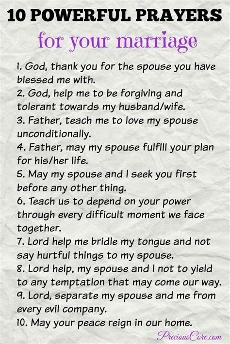 10 POWERFUL PRAYERS FOR YOUR MARRIAGE   Bible