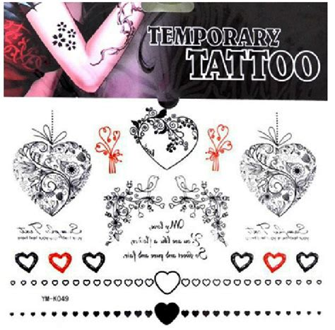 Tatto Temporary 6x10 5 Cm 02 free ship 5pcs lot ym k049 practice skin arm waist back bird with lettering