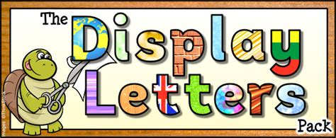 printable letters for display the display letters pack