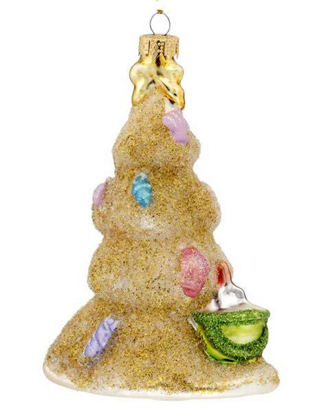 sand christmas tree with shells christmasornaments com