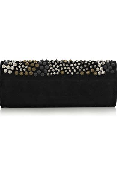 Studded Clutch Rock N Roll balmain studded suede clutch net a porter