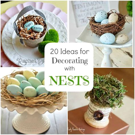 spring decorations spring decorating 20 ideas for bird nest decor