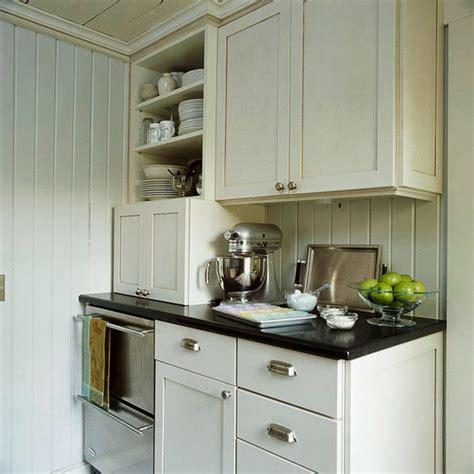 Cream Kitchen Cabinets   Cottage   kitchen   BHG