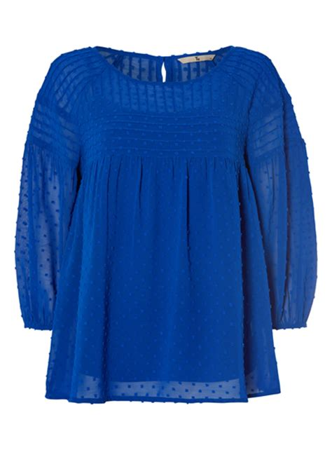 Tesco Dotted Swiss Smock Top by Womens Blue Dotted Smock Top Tu Clothing