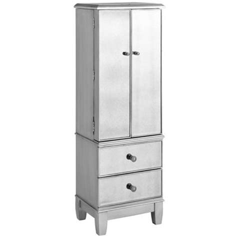 jewelry armoire silver hayworth jewelry armoire silver pier 1 imports