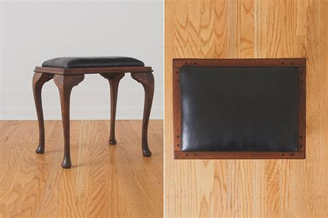 leather vanity bench black leather vanity stool homestead seattle