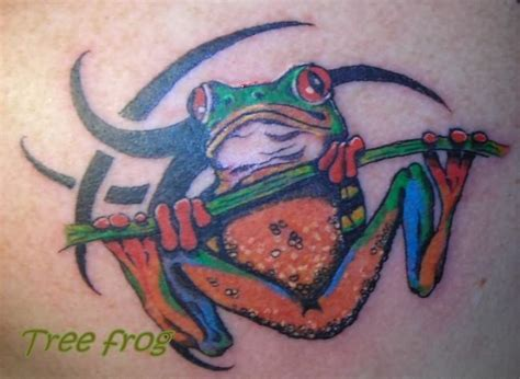 tribal frog tattoo frog images designs