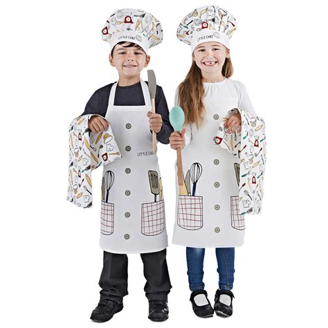 Kids Chef Set 3pc Little Chef   Kids Aprons