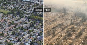 before and after fires tear through california s wine