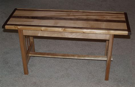 custom made bench handmade maple and walnut mission style bench by cannon