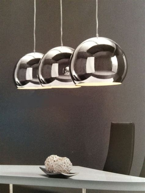 Designer Pendelleuchten by Design Pendelleuchte H 196 Ngeleuchte 3 X Grosse Silberkugel