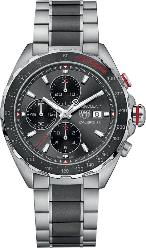 Tag Heuer F1 Calibre 16 Chrono Brown Silver White caz2012 ba0970 tag heuer formula one mens automatic chronograph