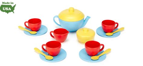 made in the usa forever tea set by green toys made in usa forever